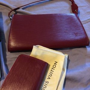 Louis Vuitton Epi red leather